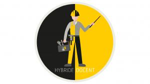 Beeldmerk hybride docent (op wit)